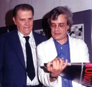 Porreca (izquierda) con José Muñoz